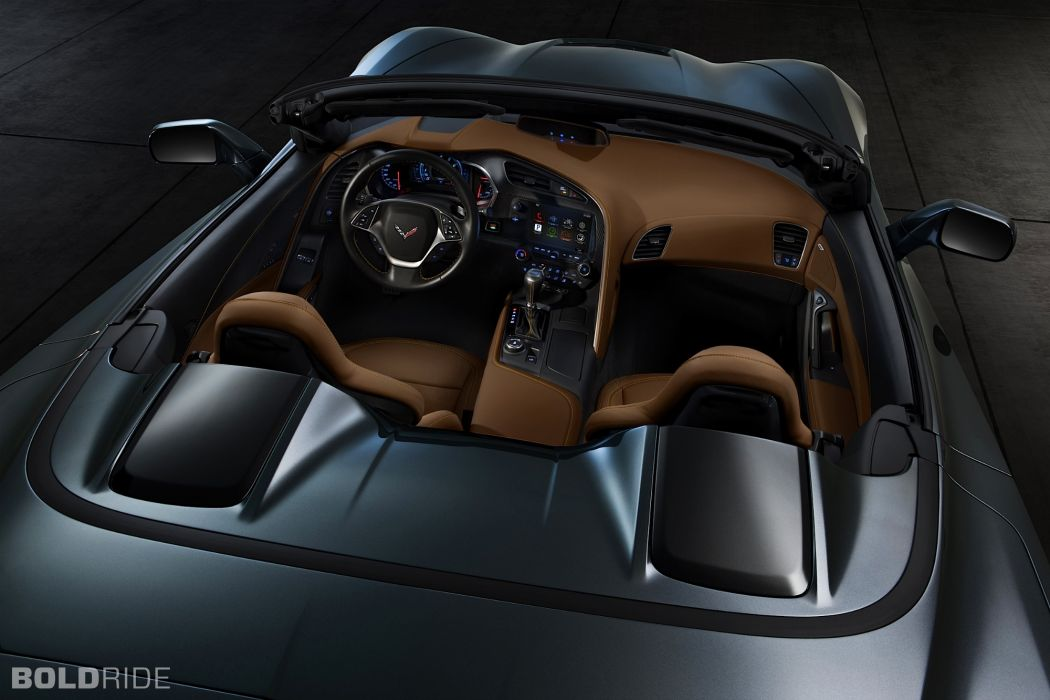2014 Chevrolet Corvette Stingray Convertible supercars supercar muscle interior wallpaper