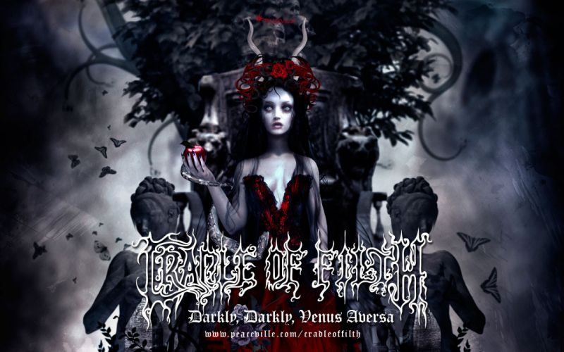 CRADLE OF FILTH gothic metal heavy hard rock band bands group groups v wallpaper