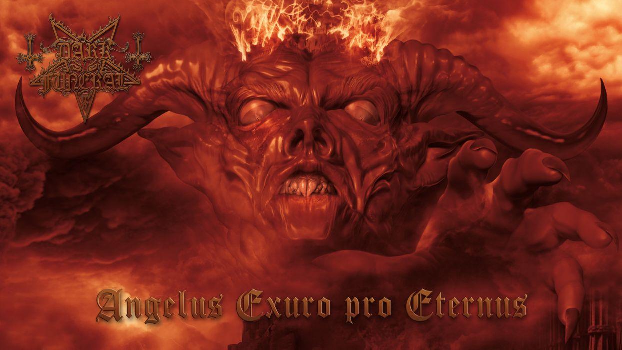 DARK FUNERAL black metal heavy hard rock band bands group groups dark demon fire occult satan wallpaper