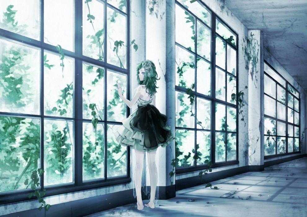 Art  ohagi  ymnky  gumi  vocaloid  girl  window wallpaper