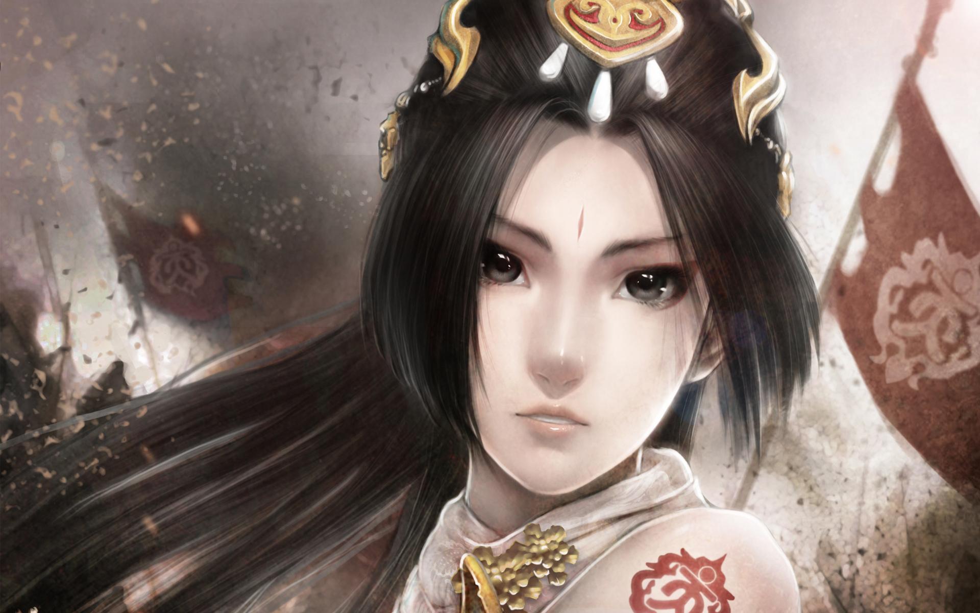 Asian girl image anime