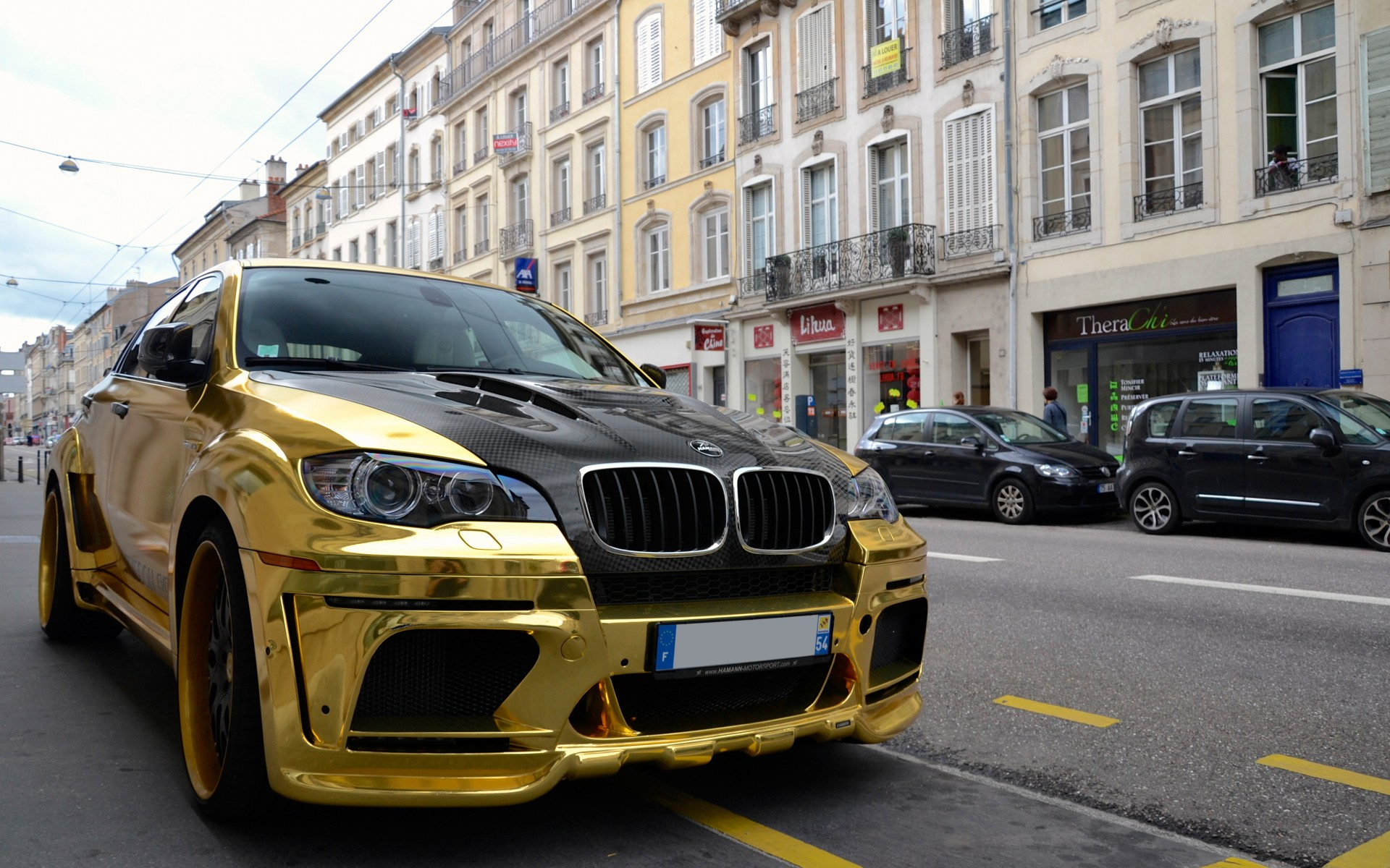Bmw X6 M Hamann Tycoon Evo M Gold Tuning Wallpaper