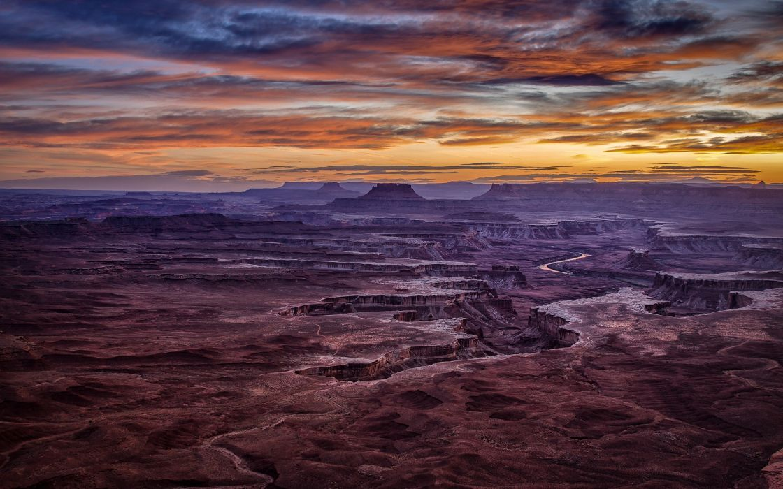 canyon  usa  sky  valley sunset clouds wallpaper