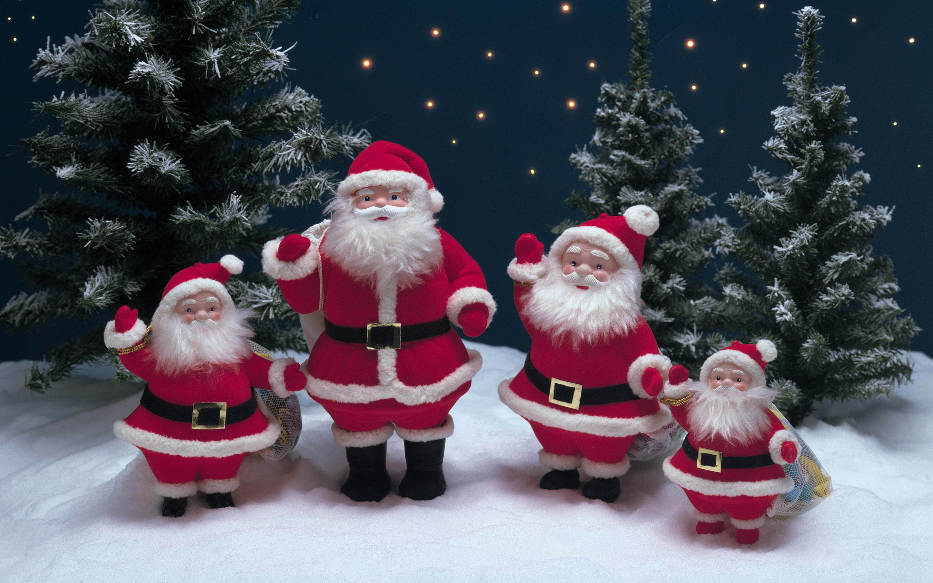 christmas decorations snow tree santa claus wallpaper 1920x1200 79368 wallpaperup - Santa Claus Christmas Decorations