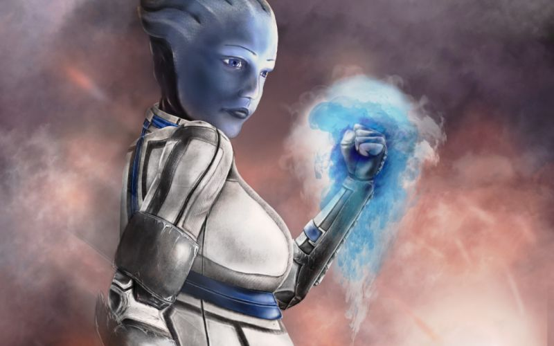 mass effect Liara farthing asari biotic cyborg sci-fi wallpaper