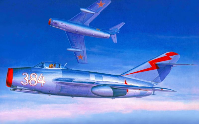 MiG-15 fighter aircraft military jet jets wallpaper