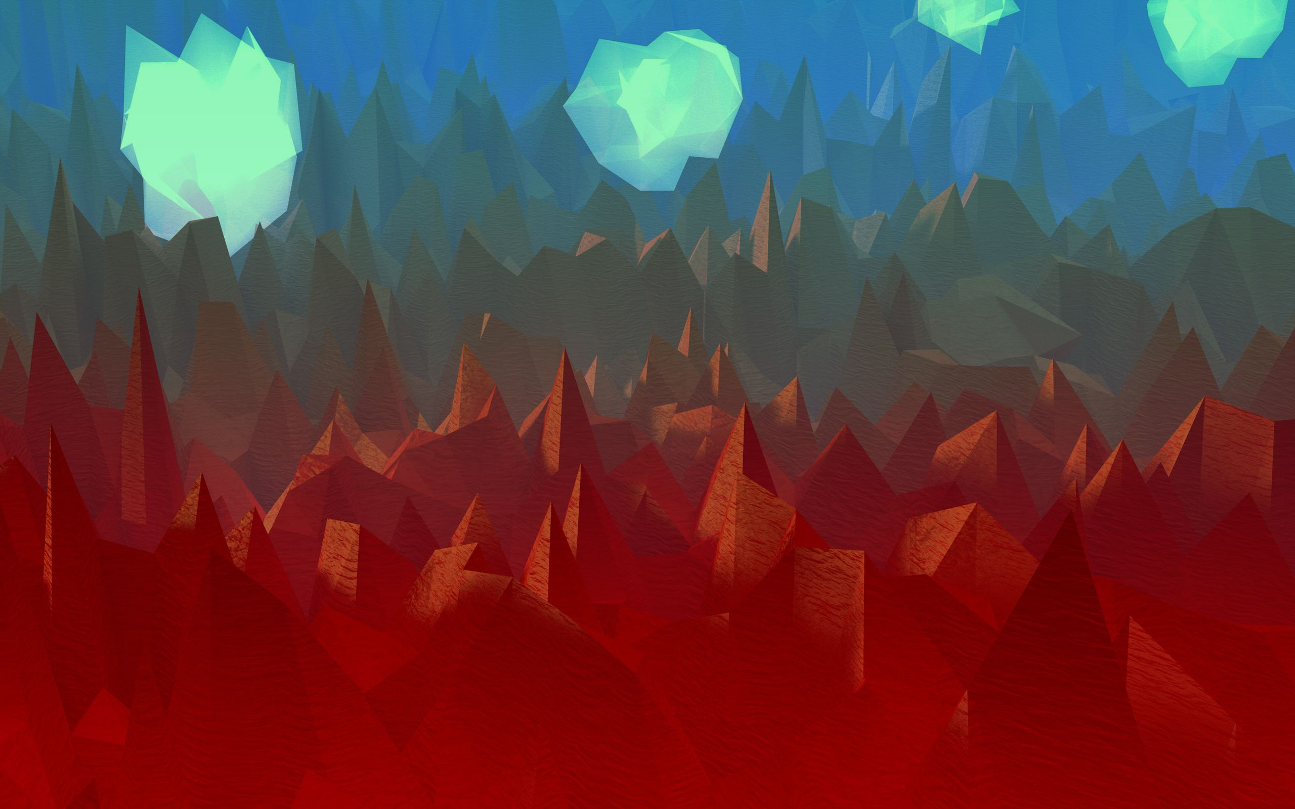 Polygon art abstract wallpaper 2560x1600 79407 wallpaperup voltagebd Choice Image