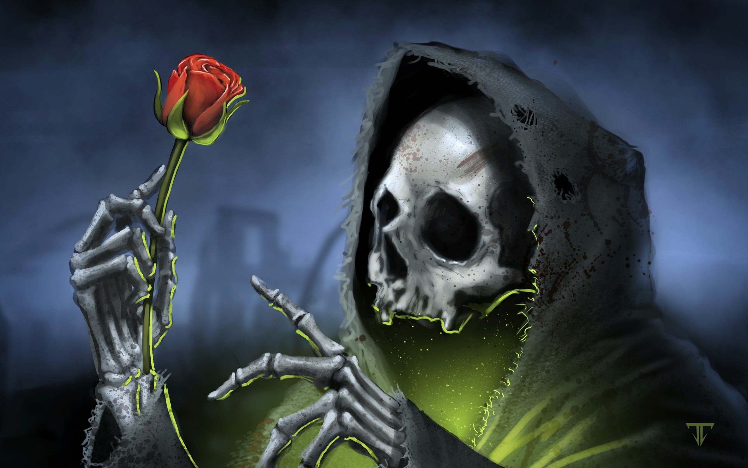 skull and roses wallpapers - photo #33