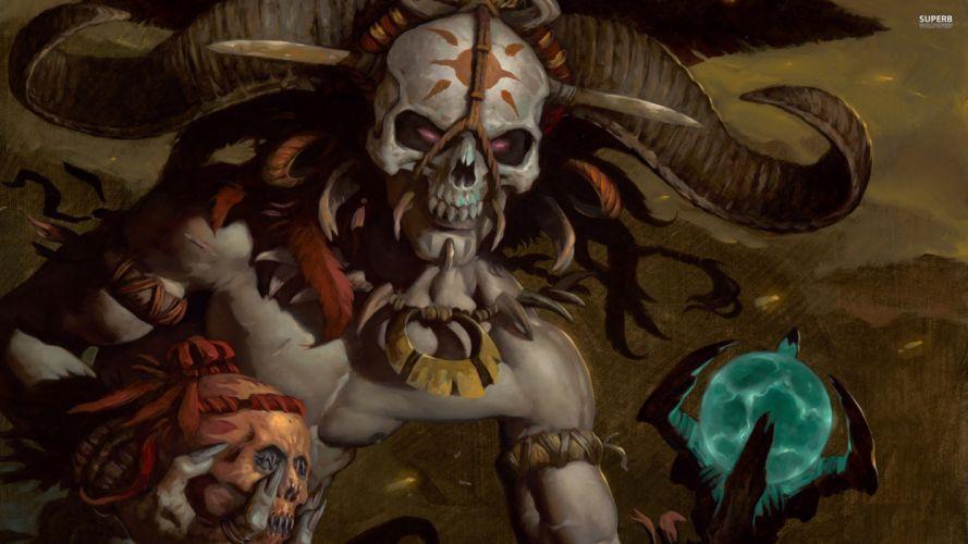 Diablo dark skull skulls wallpaper