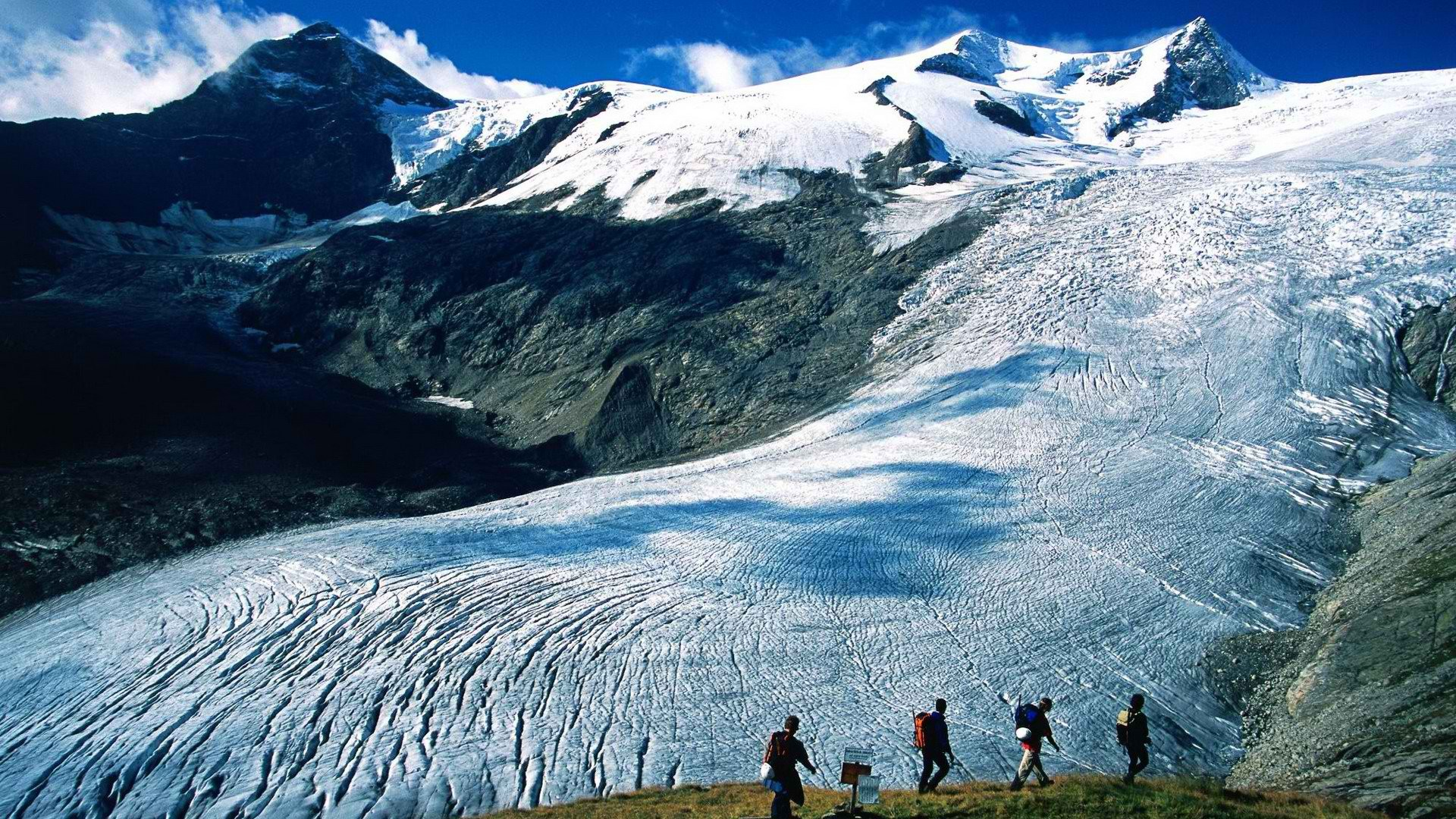 Glacier Mountains Hiking People Sports Wallpaper 1920x1080 79516 Wallpaperup