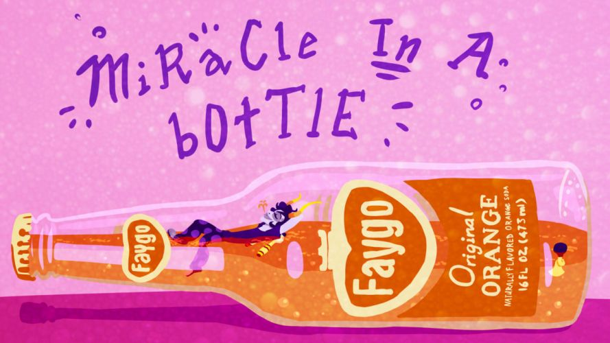 Homestuck Purple Faygo Bottle Drawing wallpaper