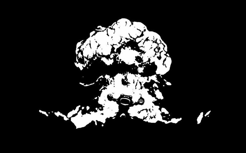 League of Legends Teemo Explosion BW Black dark wallpaper