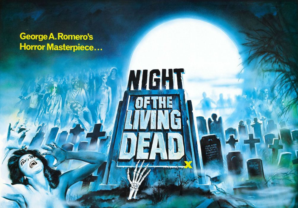 Night of The Living Dead Zombies Movie Poster wallpaper