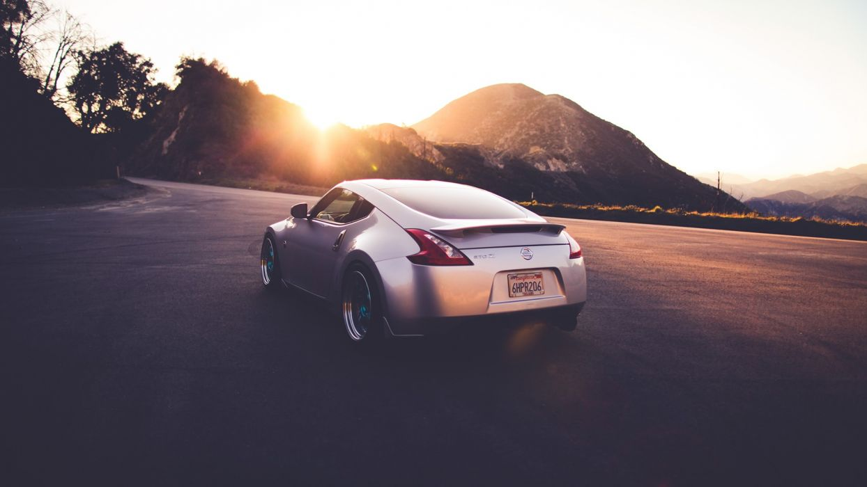 Nissan 370z Warm Sunlight Sunset Tuning Wallpaper 1920x1080