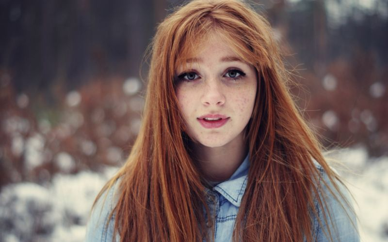 Redhead Face Freckles wallpaper