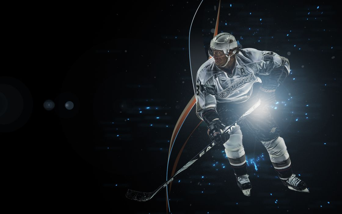 Teemu Selanne Anaheim Ducks Hockey NHL Black wallpaper