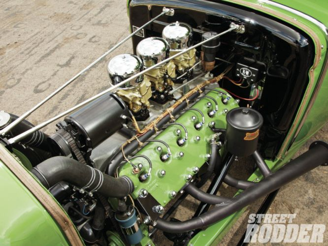 1930 Ford Coupe Model-A Lincoln V12 model hot rod rods retro engine engines b wallpaper