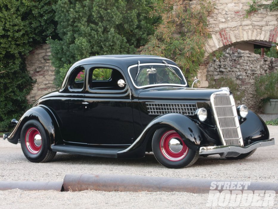 1935 Ford Five Window Coupe retro hot rod rods wallpaper