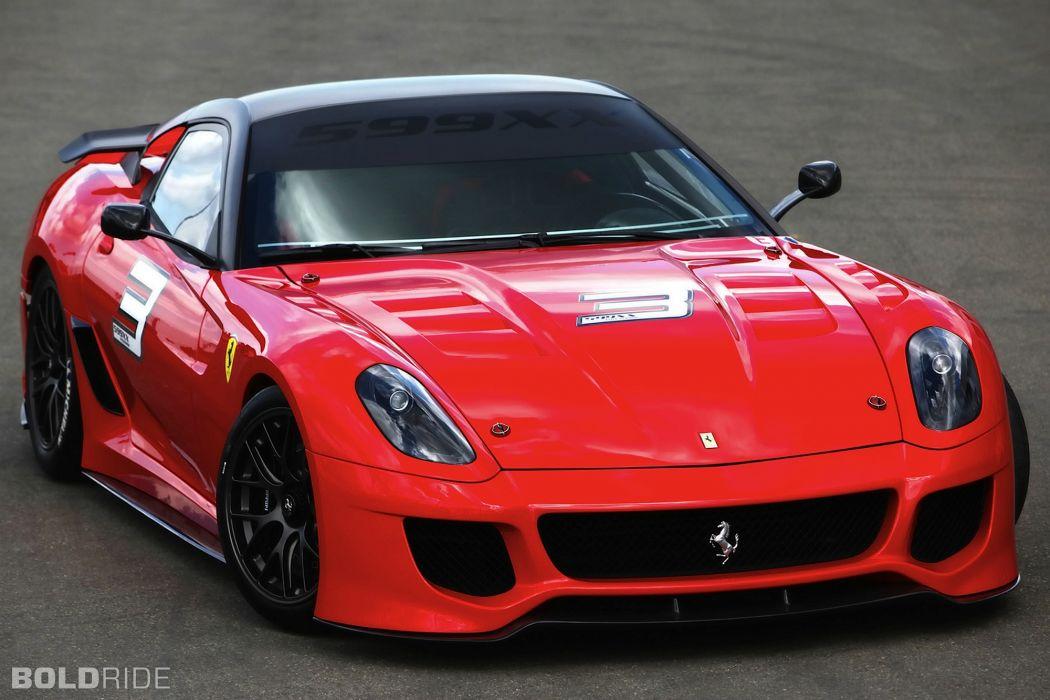 2010 Ferrari 599XX supercar supercars race cars racing     w wallpaper