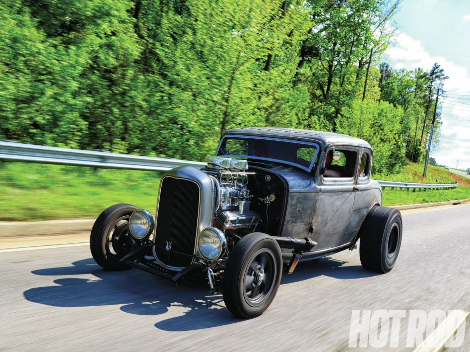 1932 Ford Deuce Coupe retro hot rod rods  f wallpaper