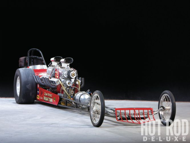 Freight Train Top Gas Dragster drag racing race engine engines blower blown q wallpaper