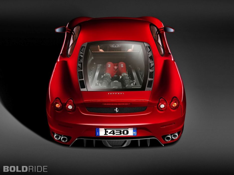 2005 Ferrari F430 supercars supercar engine engines wallpaper