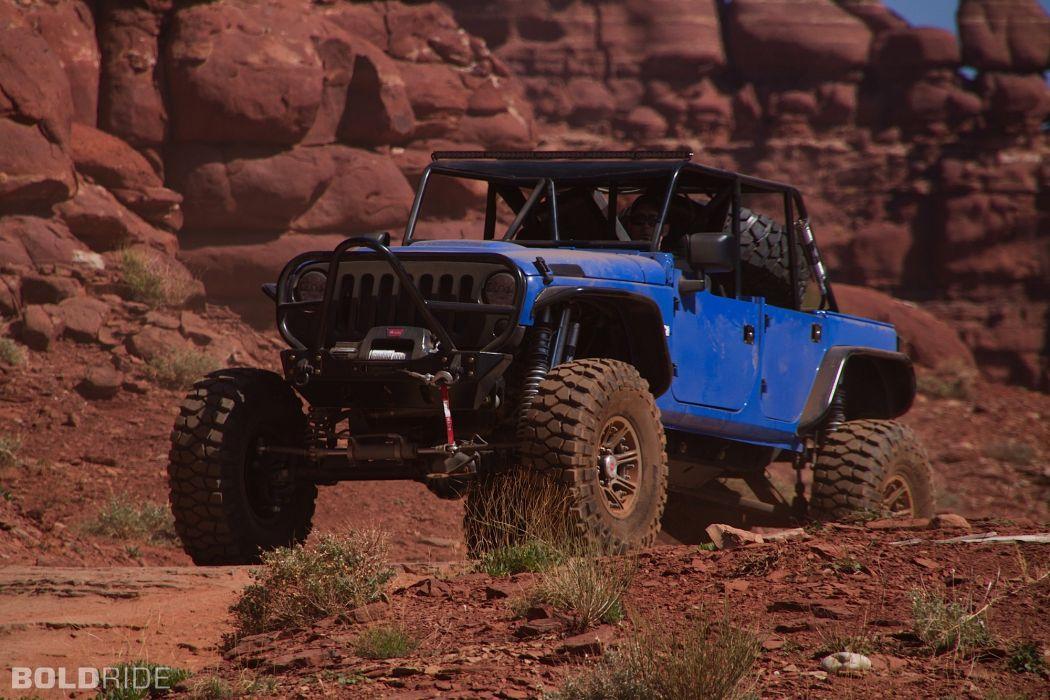 2011 Jeep Wrangler Blue Crush offroad 4x4 wallpaper