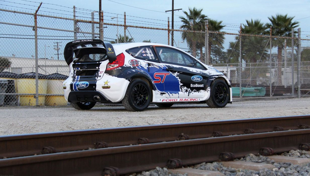 Ford Fiesta ST Global RallyCross Championship racing race     q wallpaper