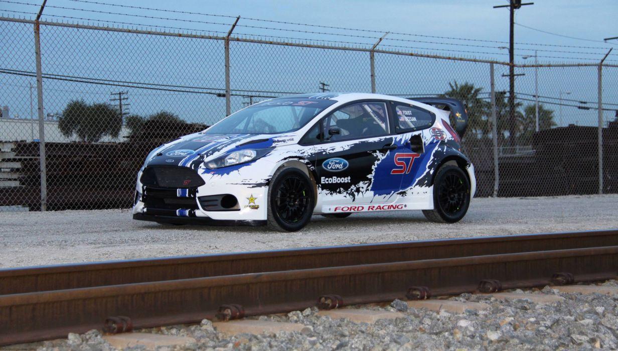 Ford Fiesta ST Global RallyCross Championship racing race wallpaper
