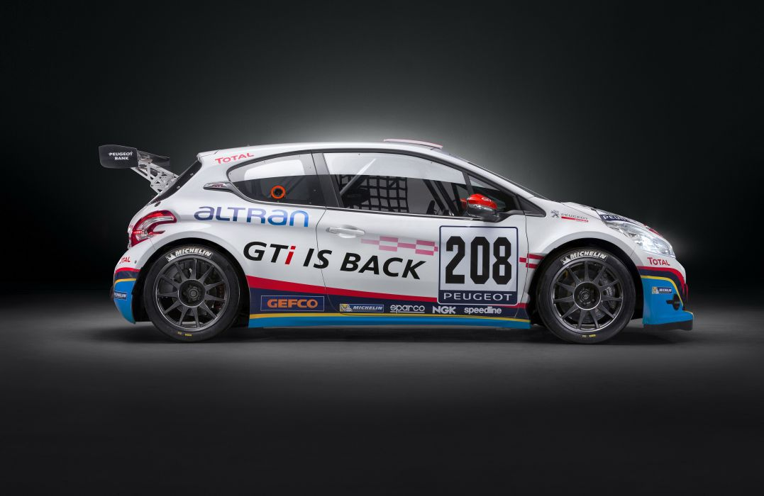 Peugeot 208 GTi Sport racing race       f wallpaper
