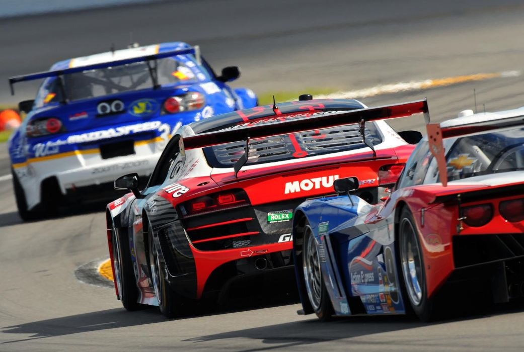 Audi R8 GRAND-AM racing race  t wallpaper