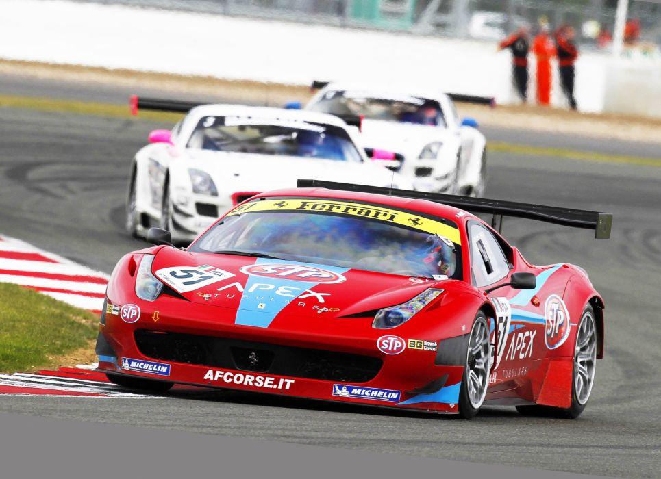 2011 AF-Corse STP Ferrari F458 supercars supercar race racing   q wallpaper