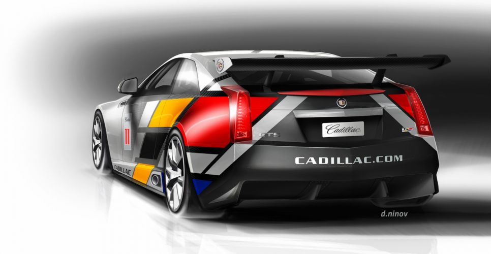 2011 Cadillac CTS-V Coupe race racing e wallpaper