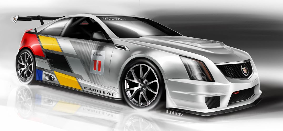 2011 Cadillac CTS-V Coupe race racing w wallpaper