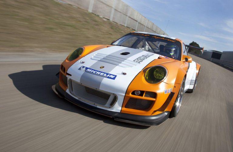 2011 Porsche 911 GT3-R Hybrid Version 2-0 race racing wallpaper