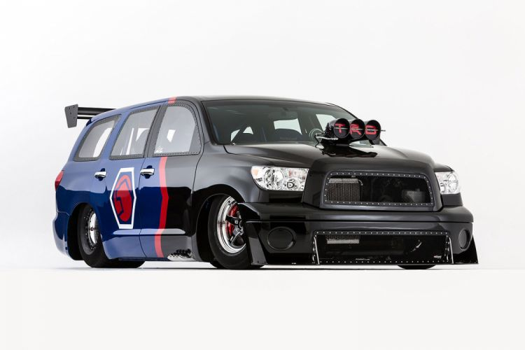 2012 Toyota DragQuoia Family Sequoia Dragster Concept drag racing race hot rod rods wallpaper