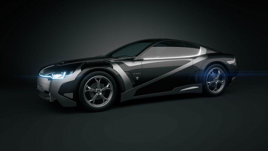 2012Tronatic Everia Concept electric supercar supercars q wallpaper