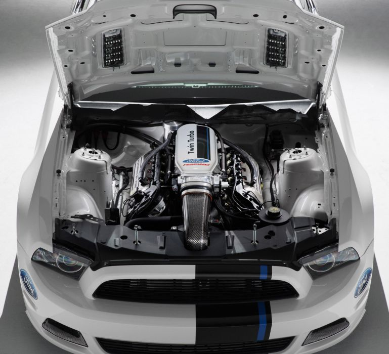 2013 Ford Mustang Cobra Jet Twin-Turbo Concept race racing hot rod rods muscle engine engines wallpaper
