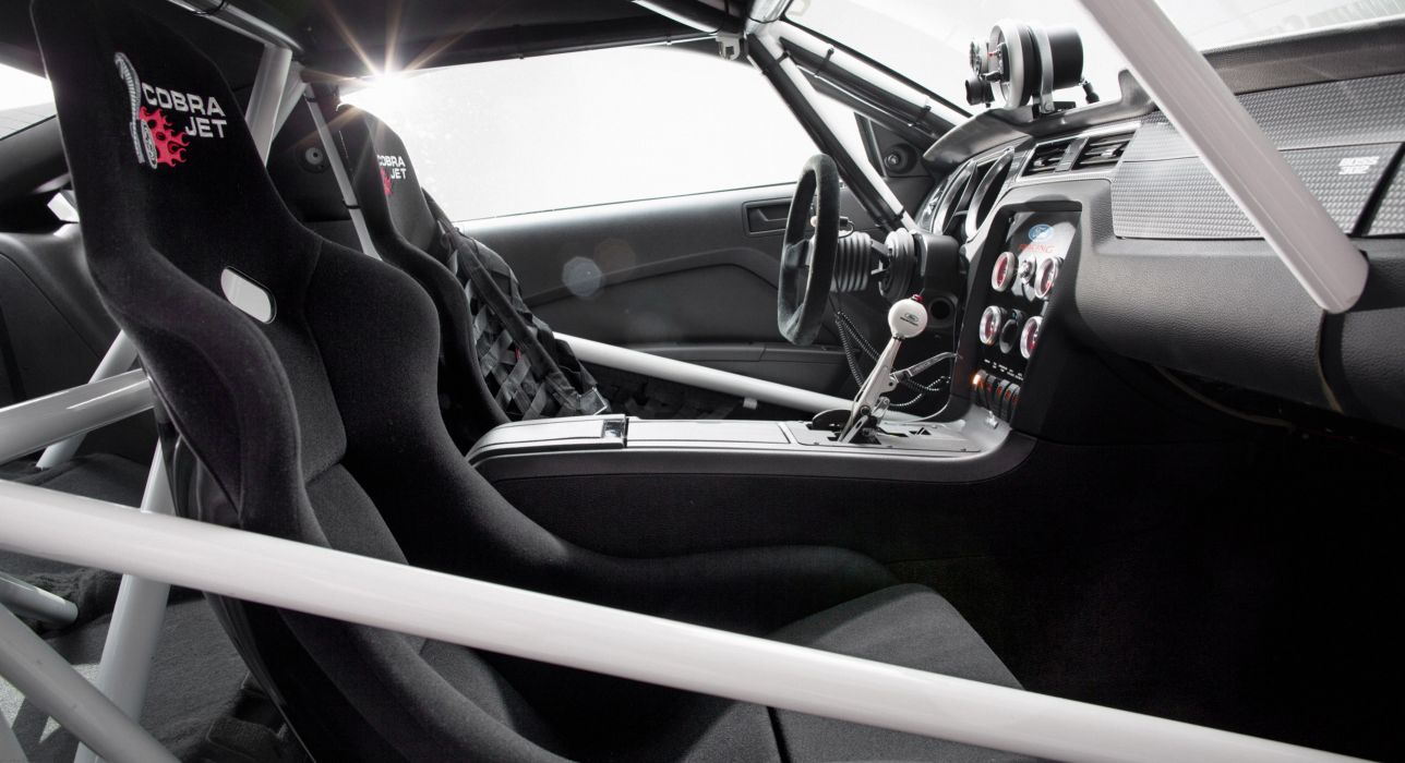 2013 Ford Mustang Cobra Jet Twin-Turbo Concept race racing hot rod rods muscle interior  d wallpaper