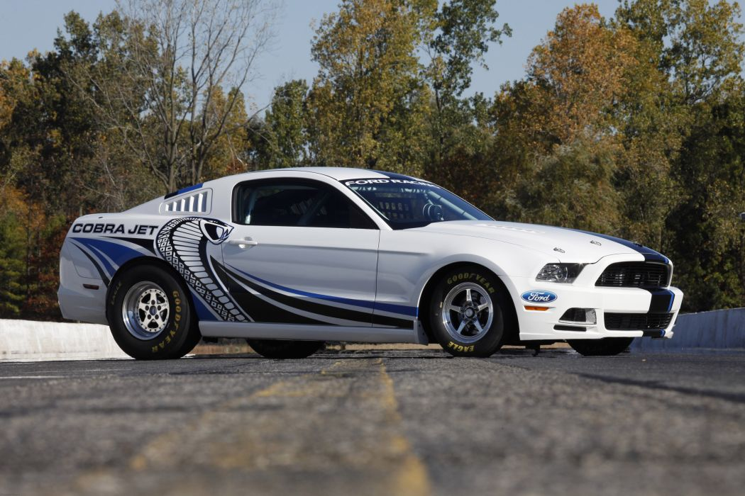 2013 Ford Mustang Cobra Jet Twin-Turbo Concept race racing hot rod rods muscle i wallpaper