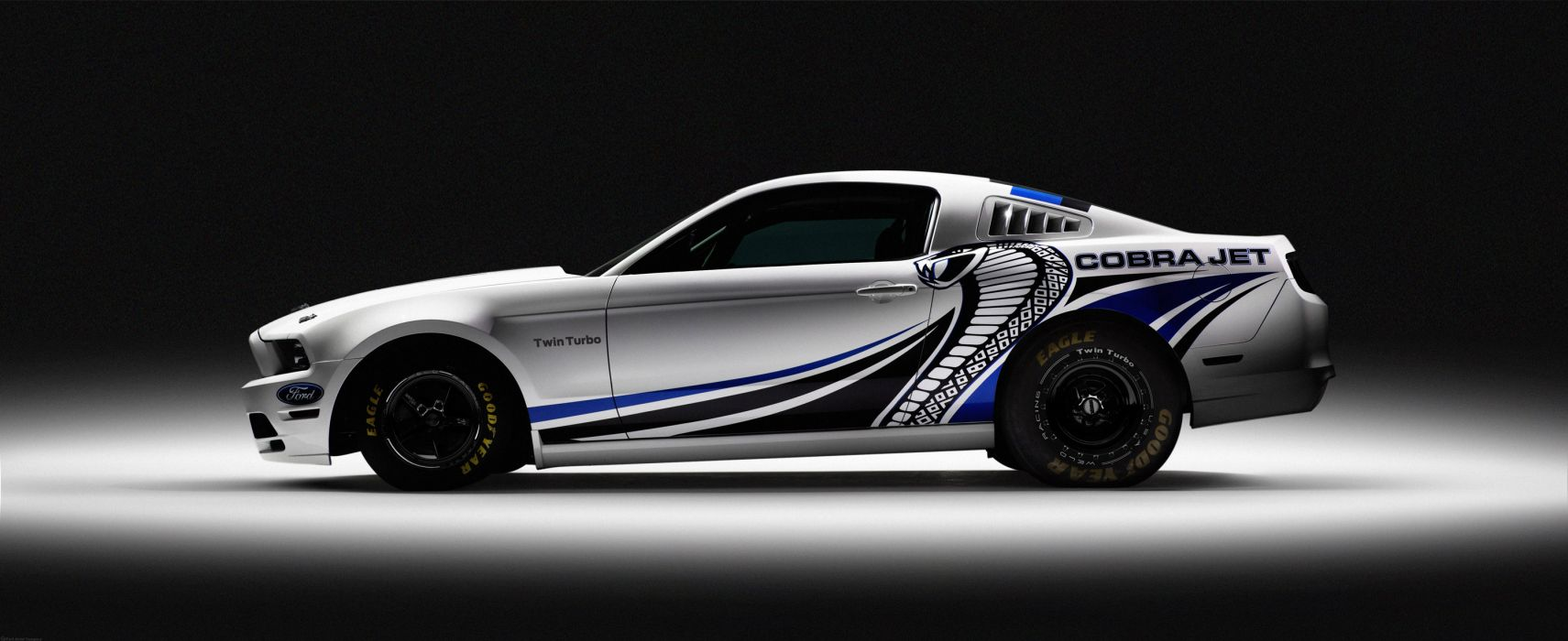 2013 Ford Mustang Cobra Jet Twin-Turbo Concept race racing hot rod rods muscle o wallpaper