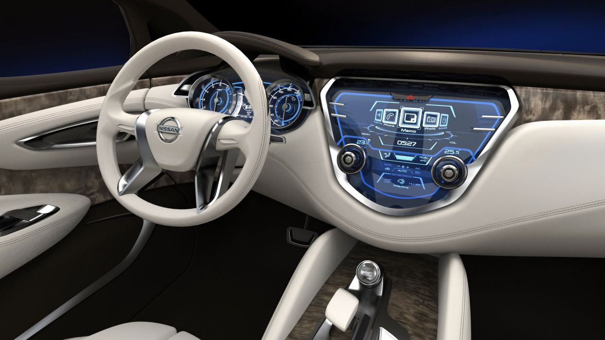 2013 Nissan Resonance Concept suv interior dash steering wallpaper