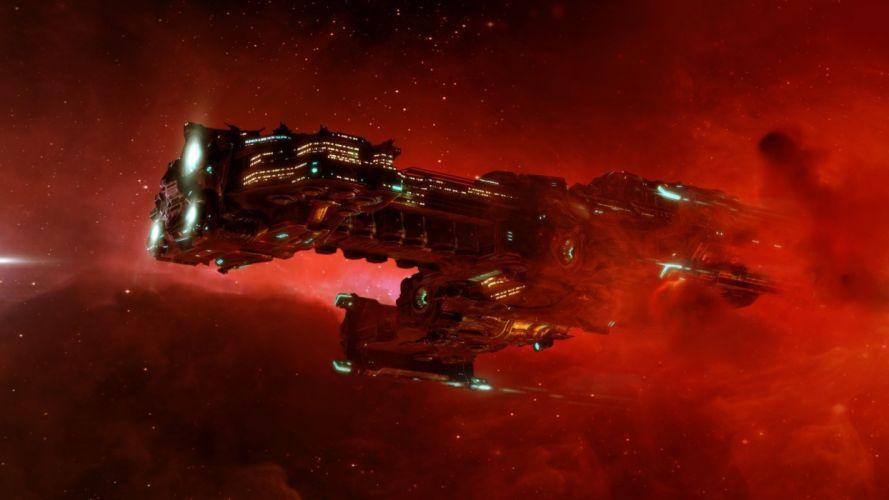 shuttle space hyperion galaxy spaceship spacecraft stars nebula wallpaper