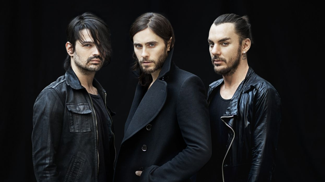 30 Seconds to Mars Jared Leto Black Band wallpaper