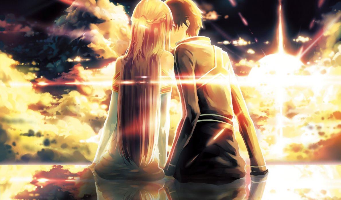 Art Ko2915277ok Yuuki Asuna Kirito Sword Art Online Boy Girl Kiss