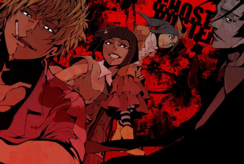blue eyes cigarette ex hien kagenui yozuru kaiki deishuu monogatari nisemonogatari ononoki yotsugi oshino meme red eyes wallpaper