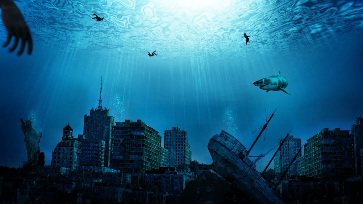Image result for apocalyptic underwater world
