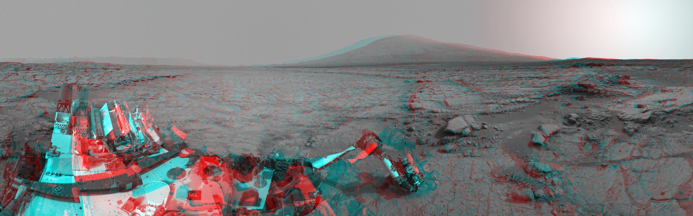 Curiosity Mars Rover Alien Landscape Machine NASA 3D multi dual science sci sci-fi planets wallpaper