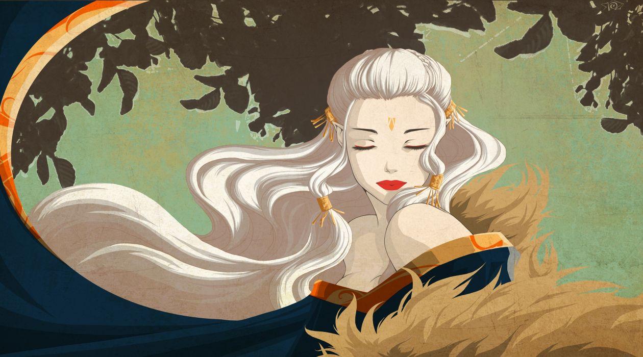 Elves Vector Graphics Blonde girl Hair Fantasy Girls elf wallpaper
