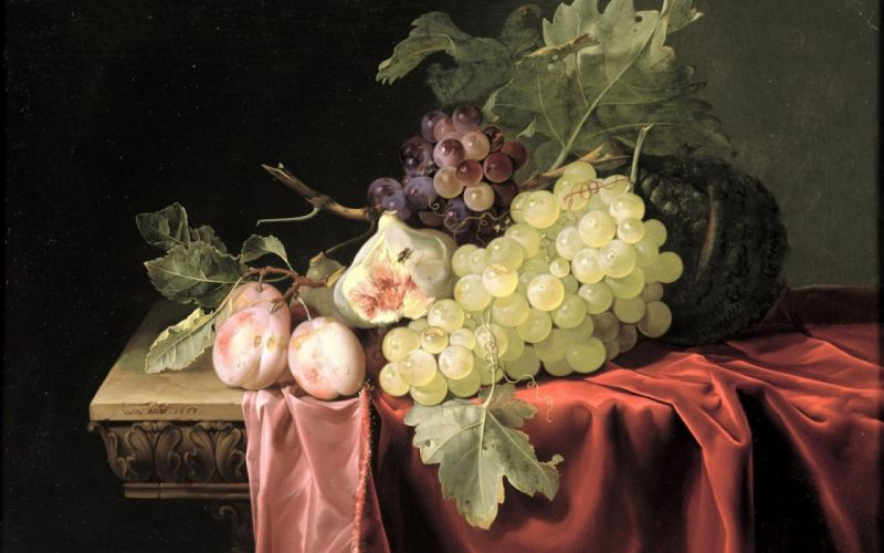 grapes Aalst fruit still life art painting paintings wallpaper